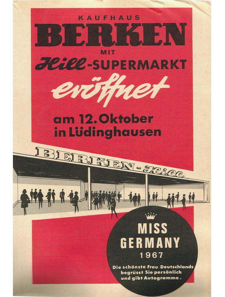 Anlässlich der großen Neueröffnung in Lüdinghausen war sogar die amtierende Miss Germany (1967) Fee von Zitzewitz eingeladen.